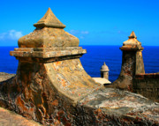 Puerto Rico Photo Prints - Old Fort Puerto Rico Print by Perry Webster