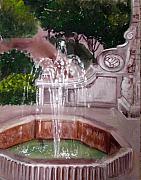 Old Fountain Print by Anne Cameron Cutri