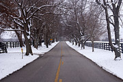 Backroads Prints - Old Frankforts Winter Coat Print by Wayne Stacy