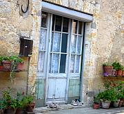 French Door Prints - Old French Entree SouthWest Print by Dagmar Ceki