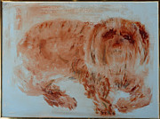 Lap Painting Originals - Old Friend by Barbara Thornsbury