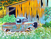 Old Barn Paintings - Old Friend by Fram Cama