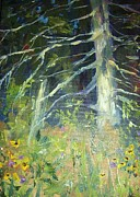 Black Eye Susan Paintings - Old Friend Tree by Tamera Menard