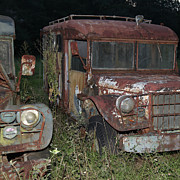 Old Trucks Photo Metal Prints - Old Friends Metal Print by Joseph G Holland