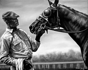 Thoroughbred Race Paintings - Old Friends by Thomas Allen Pauly