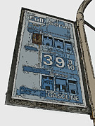 Samuel Sheats Posters - Old Full Service Gas Station Sign Poster by Samuel Sheats