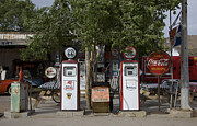 2009 Photo Framed Prints - Old Gas Pumps, 2009 Framed Print by Granger
