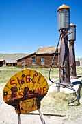 Ghost Town Metal Prints - Old Gas Pumps Metal Print by Shane Kelly