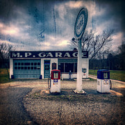 Pumps Prints - Old  gas station  Print by Emmanuel Panagiotakis
