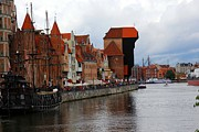 Pirate Ship Photo Prints - Old Gdansk Port Poland Print by Sophie Vigneault