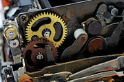 Gear Metal Prints - Old Gears mechanism Metal Print by Sami Sarkis