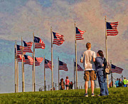 Boy And Girl Prints - Old Glory Print by Boyd Alexander