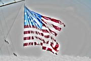 Waving Flag Digital Art - Old Glory by Dan Stone