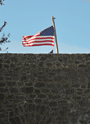 Flag Stones Posters - Old Glory Poster by Donna Brown
