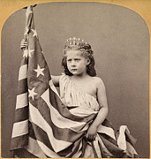 1870s Fashion Posters - Old Glory. Fontinelle Weller Posed Poster by Everett
