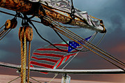 Metal Strips Posters - Old Glory Poster by Kathy Flugrath Hicks