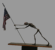 Usa Sculpture Prints - Old Glory Print by Leon  Leigh