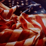 Patriotic Painting Metal Prints - Old Glory Metal Print by Michael Lang
