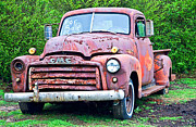 Susan Leggett Art - Old GMC For Sale by Susan Leggett