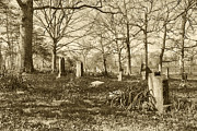 Grave Photo Originals - Old Grave Yard by John Radosevich