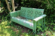 Old Things - Old Green Bench by Pauline Ross