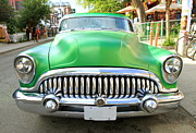 50s Photos - Old Green Buick by Valentino Visentini
