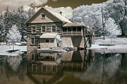 Infrared Framed Prints - Old Grist Mill in Infrared Framed Print by Paul W Faust -  Impressions of Light