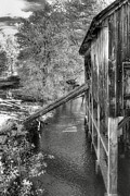 Wooden Fence Posters - Old Grist Mill Poster by Joann Vitali