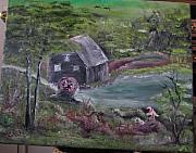 Old Grist Mill Print by M Bhatt
