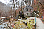 Grist Mill Posters - Old Grist Mill Poster by Paul Mashburn