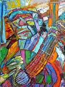 Passionate Paintings - Old Guitar Man by John Barney