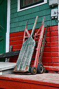 Wooden Hand Photos - Old Hand Trucks by Paul Ward