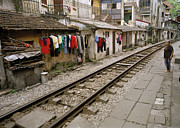 The Ghetto Prints - Old Hanoi By The Tracks Print by Shaun Higson