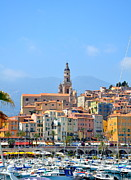Menton Prints - Old Harbor Print by Corinne Rhode