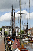 Ship Pastels Prints - Old Harbor Print by Stefan Kuhn