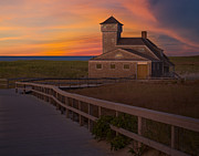 U.s. Coast Guard Prints - Old Harbor U.S. Life Saving Station Print by Susan Candelario