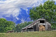 Tennessee Hay Bales Prints - Old Hay Barn Print by Jan Amiss Photography