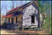 Old Houses Metal Prints - Old Home Place Metal Print by Larry Bishop