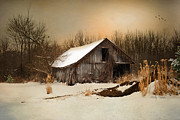Land Digital Art Originals - Old Homestead Barn by Mary Timman