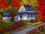 Laurentians Paintings - Old Homestead by Deborah Czernecky SCA