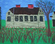Jordan Art Paintings - Old Homestead by Jeannie Atwater Jordan Allen