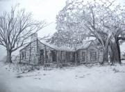 Abandoned House Drawings Prints - Old Homestead Print by Otis  Cobb