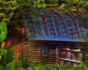 Impressionism Digital Art Prints - Old Horse Barn In The Pines Print by Terril Heilman