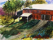Watercolors Drawings - Old Horse Stable by John  Williams