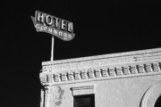 Peeling Stucco Posters - Old Hotel Glenwood Tucson Arizona Poster by Arni Katz