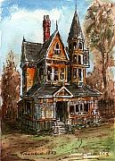 Abandoned Houses Mixed Media Metal Prints - Old House 134 Metal Print by Aurelio Menna