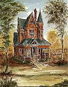 Abandoned Houses Mixed Media Framed Prints - Old House 135 Framed Print by Aurelio Menna