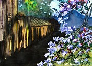 Antiques Paintings - Old House and New Flowers by Lil Taylor