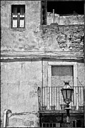 Old Houses Metal Prints - Old house in Taormina Sicily Metal Print by Silvia Ganora