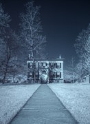 Bare Trees Metal Prints - Old  House Infrared Metal Print by Joshua House